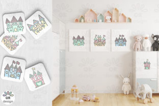 Print on Demand: Castle Clipart. Baby Shower Clipart Graphic Illustrations By OK-Design 3