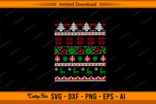 Christmas Ugly Pattern Graphic Print Templates By sketchbundle