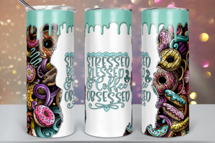 Coffee Obsessed Tumbler Design Graphic Print Templates By lavalie