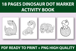 Print on Demand: DOT MARKER-Dinosaur Coloring Book KDP Graphic Coloring Pages & Books Kids By Mah Moud