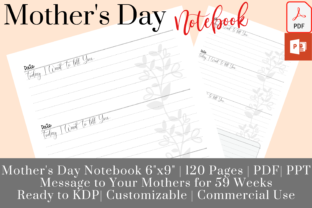 Print on Demand: Daily Message to Your Mother Journal KDP Graphic KDP Interiors By EverydayDigitalArt