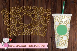 Daisy Starbucks Cup Svg Graphic Illustrations By  Magic world of design
