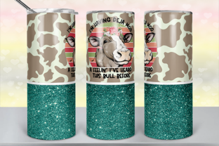Deja Moo Tumbler Design Graphic Print Templates By lavalie