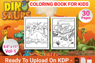 Print on Demand: Dinosaur Coloring Book for Kids Volume 1 Graphic KDP Interiors By Duaa Store
