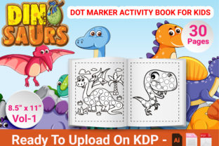 Print on Demand: Dinosaur Dot Marker Activity Book  KDP Graphic KDP Interiors By Duaa Store