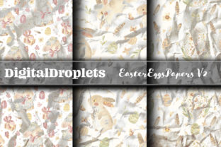 Easter Eggs Papers Vol. 2 | FREEBIE Graphic Backgrounds By FlyingMonkies