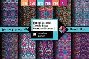 Ethnic Textile Print Seamless Pattern 2 Graphic Patterns By DoodleBox