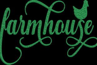 Farmhouse Farm & Country Embroidery Design By Wingsical Whims Designs