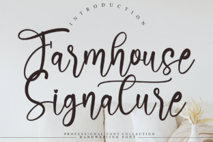 Print on Demand: Farmhouse Signature Script & Handwritten Font By andikastudio