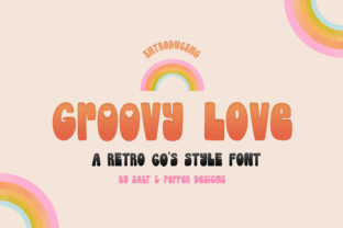 Print on Demand: Groovy Love Display Font By Salt and Pepper Fonts 1