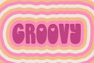 Print on Demand: Groovy Love Display Font By Salt and Pepper Fonts 3
