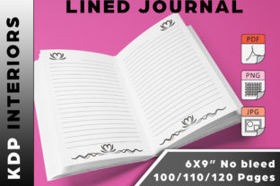 HEART THEMED Lined Journal Graphic KDP Interiors By Kreative Kontrast Designs