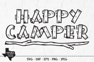 Print on Demand: Happy Camper - Camping Shirt Design Graphic Crafts By texassoutherncuts