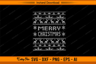 Happy Merry Christmas - Ugly Design Graphic Print Templates By sketchbundle