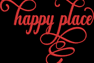 Happy Place House & Home Quotes Embroidery Design By Wingsical Whims Designs