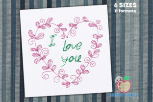 Heart in Zen Art Doodle Quick Stitch Valentine's Day Embroidery Design By embroiderydesigns101