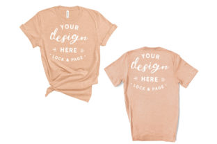 Heather Peach Bella Canvas 3001 Mockup Graphic Product Mockups By lockandpage