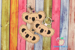 Koala Face ITH Key Fob Pattern Wild Animals Embroidery Design By embroiderydesigns101