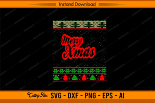 Merry Xmas Ugly Design Graphic Print Templates By sketchbundle