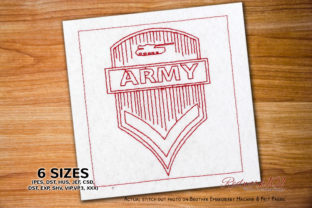 Military Tank Insignias Redwork Military Embroidery Design By Redwork101