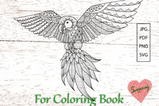 Parrot for Adult Coloring Book Graphic Coloring Pages & Books Adults By somjaicindy