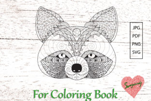 Raccoon for Adult Coloring Book Graphic Coloring Pages & Books Adults By somjaicindy