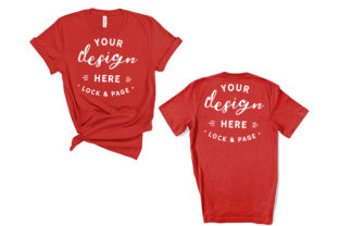 Red Bella Canvas 3001 T-Shirt Mockup Graphic Product Mockups By lockandpage