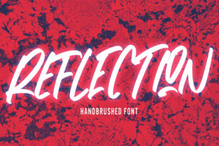 Print on Demand: Reflection Display Font By Arendxstudio 1