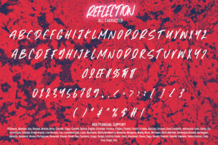Print on Demand: Reflection Display Font By Arendxstudio 7
