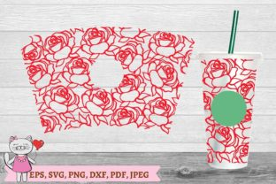 Rose Svg, Starbucks Cold Cup 24 Svg Graphic Illustrations By  Magic world of design