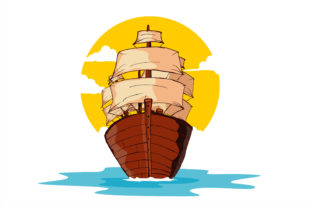 Print on Demand: Sailboat in the Ocean Illustration Graphic Illustrations By edywiyonopp