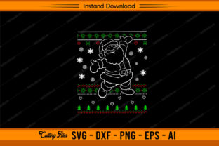 Santa with Ugly  Christmas Pattern Graphic Print Templates By sketchbundle