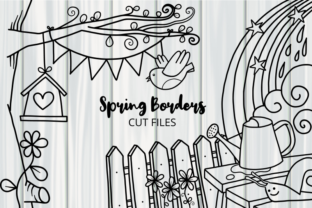 Print on Demand: Spring Borders Cut Files Line Art Graphic Crafts By Prawny