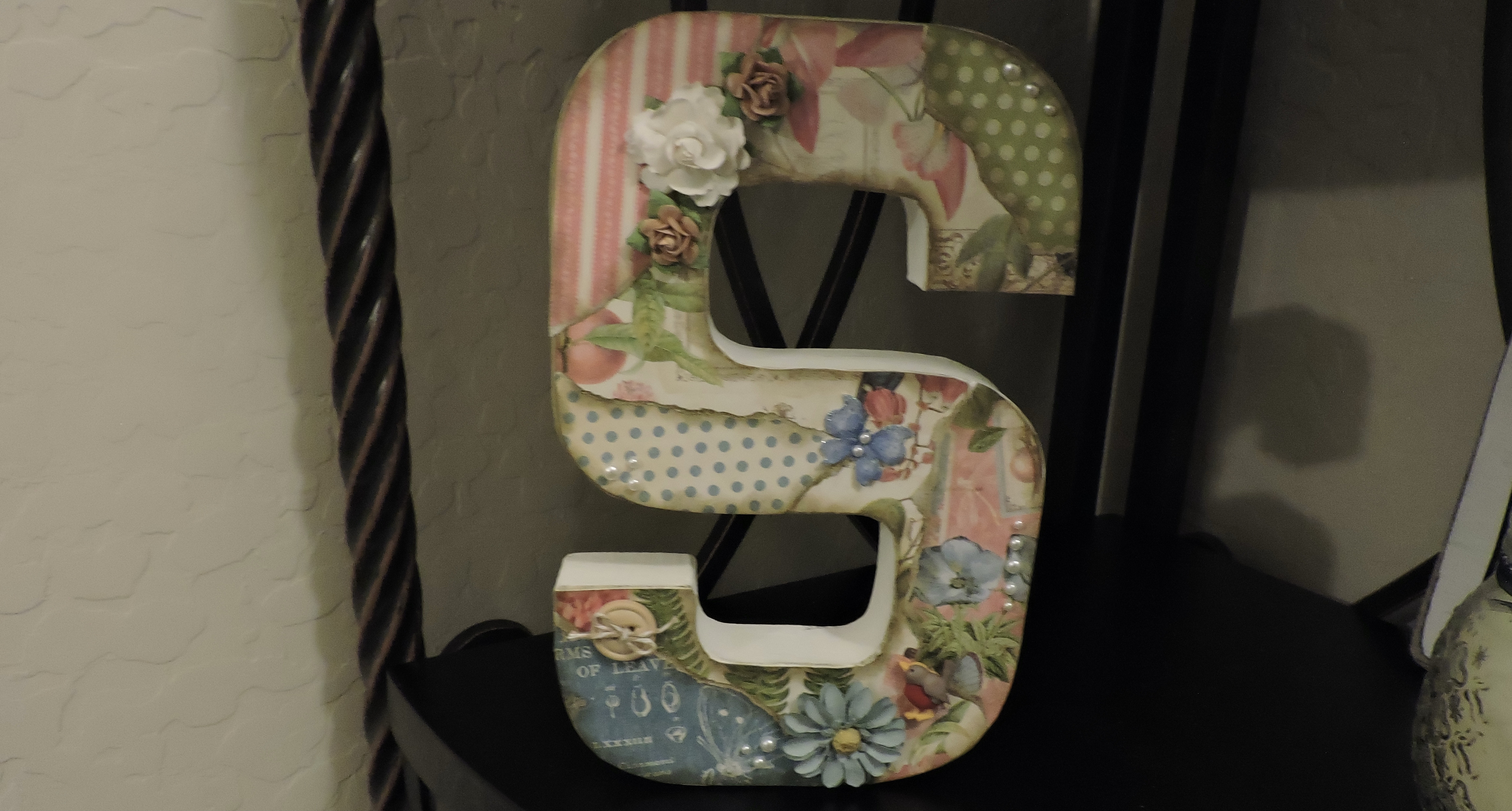 Spring Decor with Scrapbook Paper