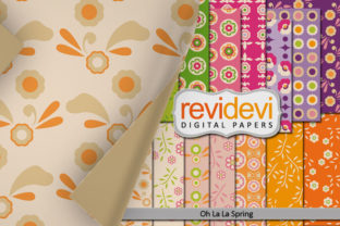 Print on Demand: Spring Rainbow Colors Papers Graphic Backgrounds By Revidevi