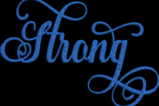 Strong Inspirational Embroidery Design By Wingsical Whims Designs