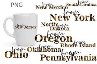 Sublimation the States of the USA Graphic Print Templates By DigitalArtFlower