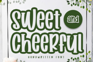 Print on Demand: Sweet and Cheerful Manuscrita Fuente Por Inermedia STUDIO