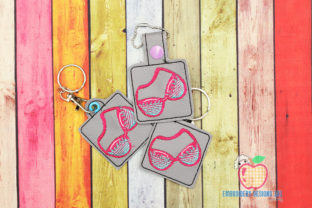 Swimwear Bra in the Hoop Keyfob Clothing Embroidery Design By embroiderydesigns101