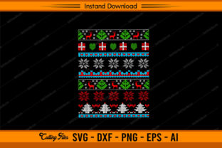 Ugly Christmas Pattern Design Graphic Print Templates By sketchbundle