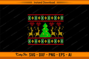Ugly Christmas Pattern Graphic Print Templates By sketchbundle