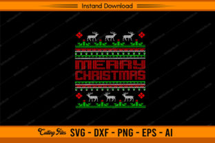 Ugly Design - Merry Christmas Graphic Print Templates By sketchbundle