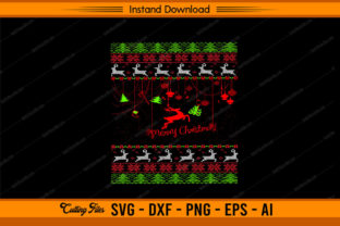 Ugly Merry Christmas Design Graphic Print Templates By sketchbundle