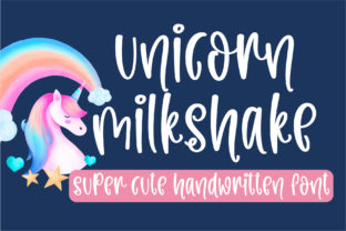 Print on Demand: Unicorn Milkshake Script & Handwritten Font By BitongType
