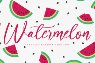 Print on Demand: Watermelon Manuscrita Fuente Por andikastudio