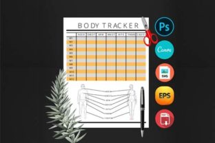 Weight Lose Workout Body Tracker Planner Graphic Print Templates By DigitalMGoods