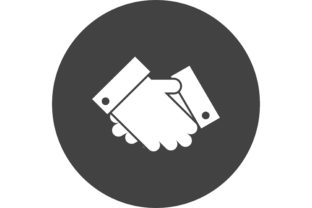 Handshake Glyph Circle Icon for You Graphic Icons By adeel.anjum00