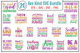 Print on Demand: Bee Kind Quotes Bundle Graphic Print Templates By GraphicsBooth