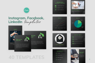 Print on Demand: Business Finance Templates for CANVA Graphic Instapage By milagro.mst