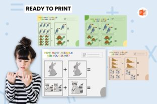 Counting Animal Book for Kids - Rabbit Graphic Teaching Materials By 57creative